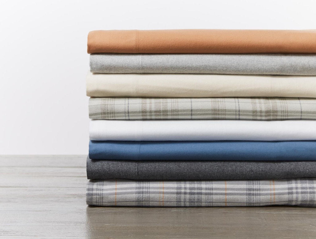 Fig Linens - Cloud Brushed Organic Flannel Sheet Sets by Coyuchi