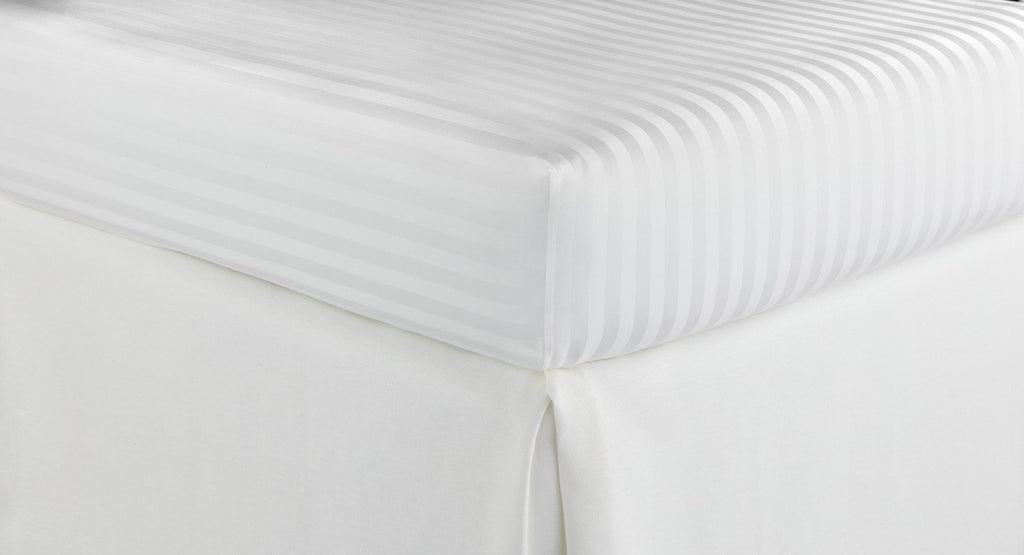 Fig Linens - Peacock Alley Duet 2 White fitted sheets