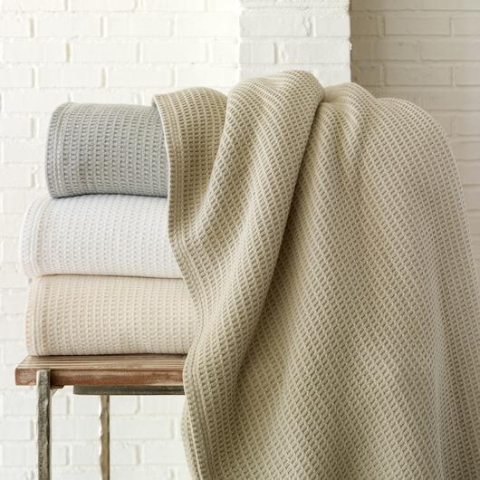 Riviera Blanket by Peacock Alley - Wafffle Blankes at Fig Linens