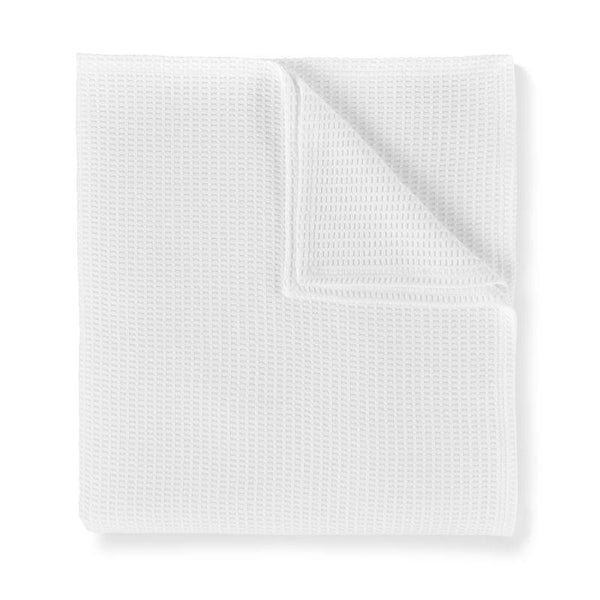Riviera Blanket by Peacock Alley - White Waffle Blanket