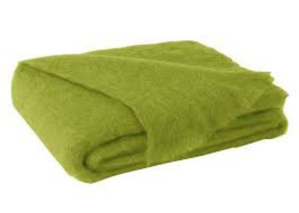 Brushed Mohair Throw Pesto by Lands Downunder