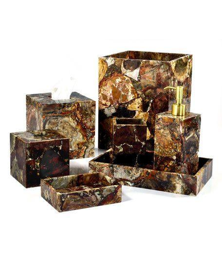 Taj Petrified Wood Bath Collection by Mike + Ally | Fig Linens