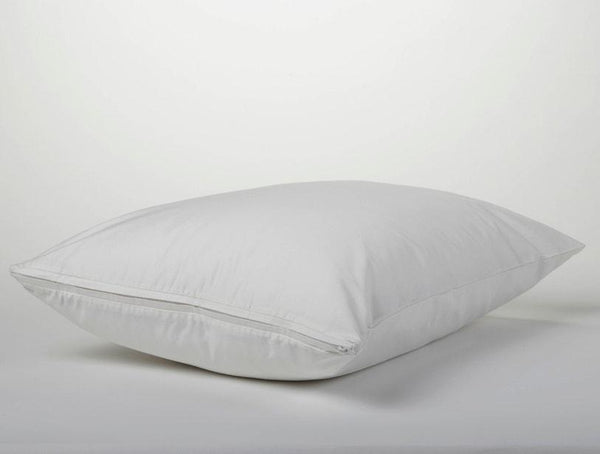 Coyuchi Organic White Pillow Protectors | Fig Linens