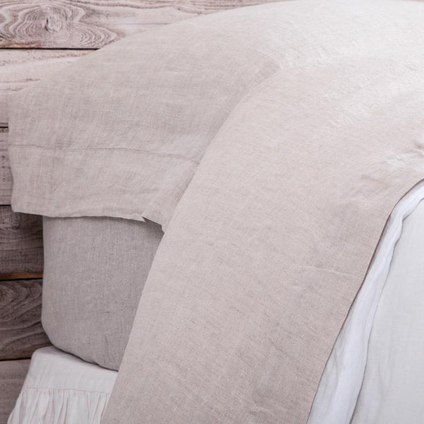 Fig Linens - Pom Pom at Home Bedding - Louwie Flax Linen Sheets and Pillowcases
