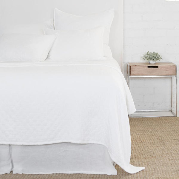 Ojai White Coverlet & Shams by Pom Pom at Home | Fig Linens