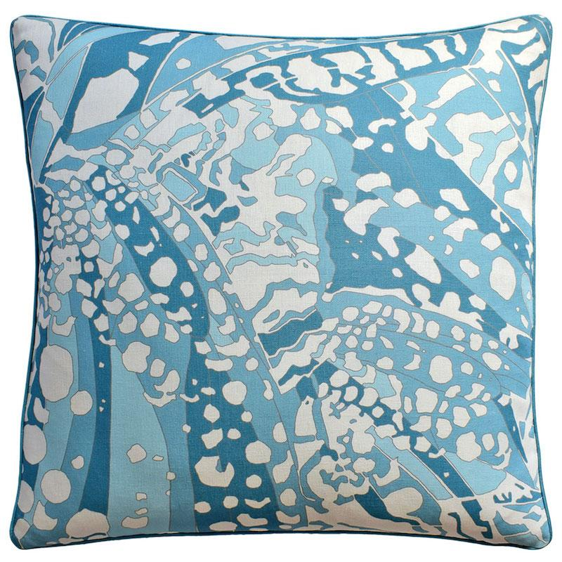Puccini Robin's Egg Blue Throw Pillow | Ryan Studio at Fig Linens