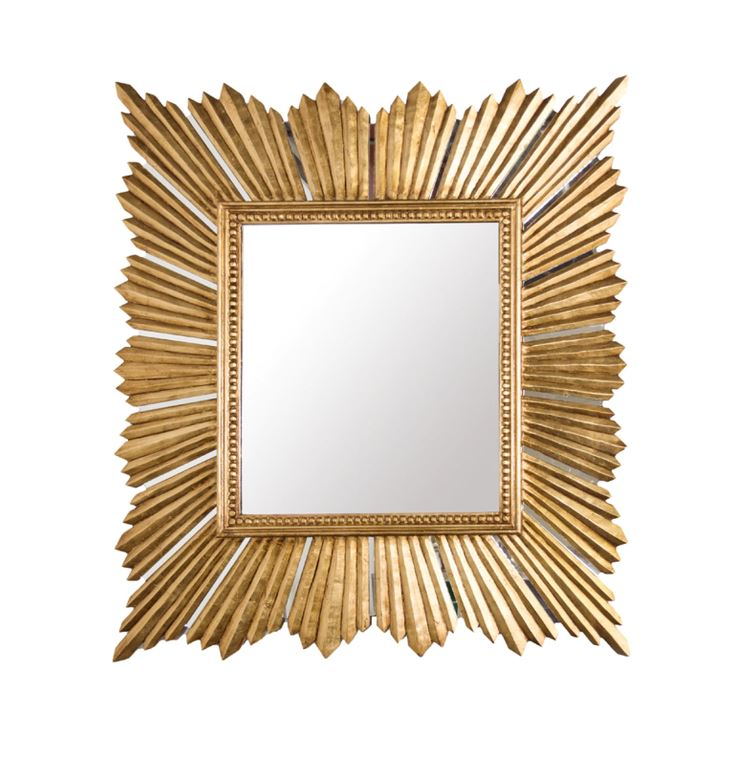 Raymond Gold Extra Large Mirror by Worlds Away | Fig Linens