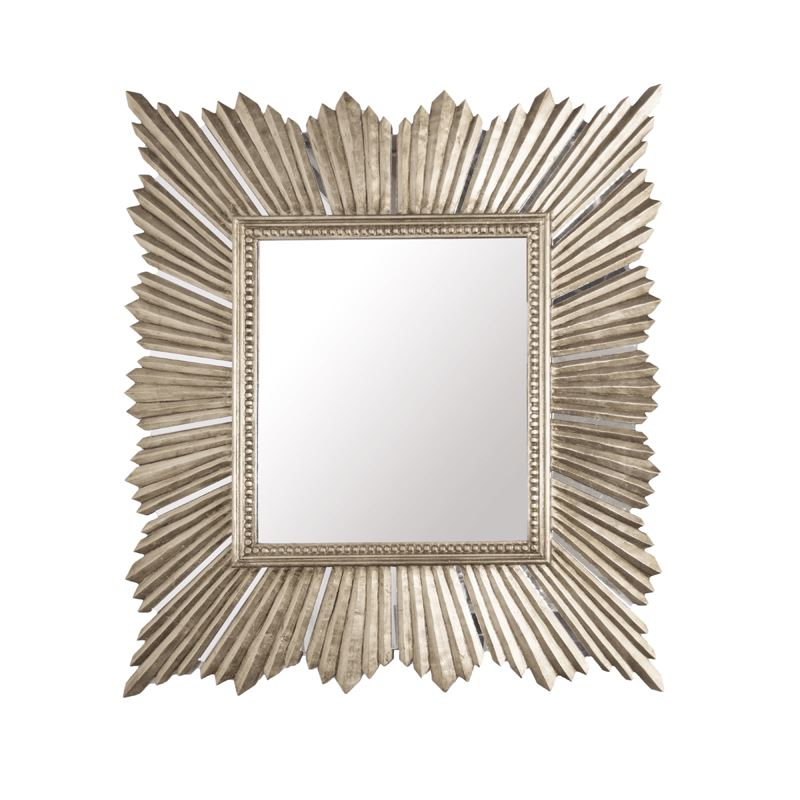 Raymond Mirror in Silver Leaf