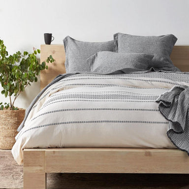 Rippled Stripe Organic Bedding by Coyuchi | Fig Linens