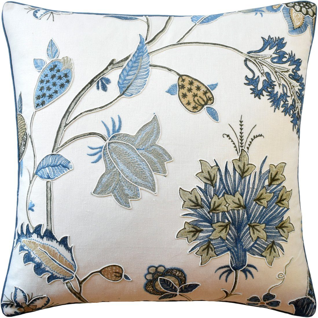 Bakers Idienne Soft Blue Pillow by Ryan Studio