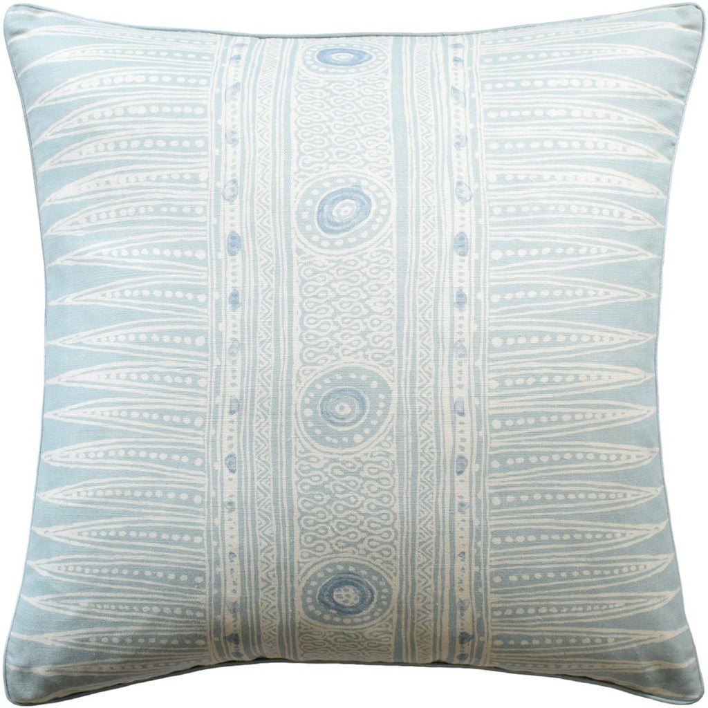 Indian Zag Aqua Throw Pillow by Ryan Studio | Fig Linens and Home