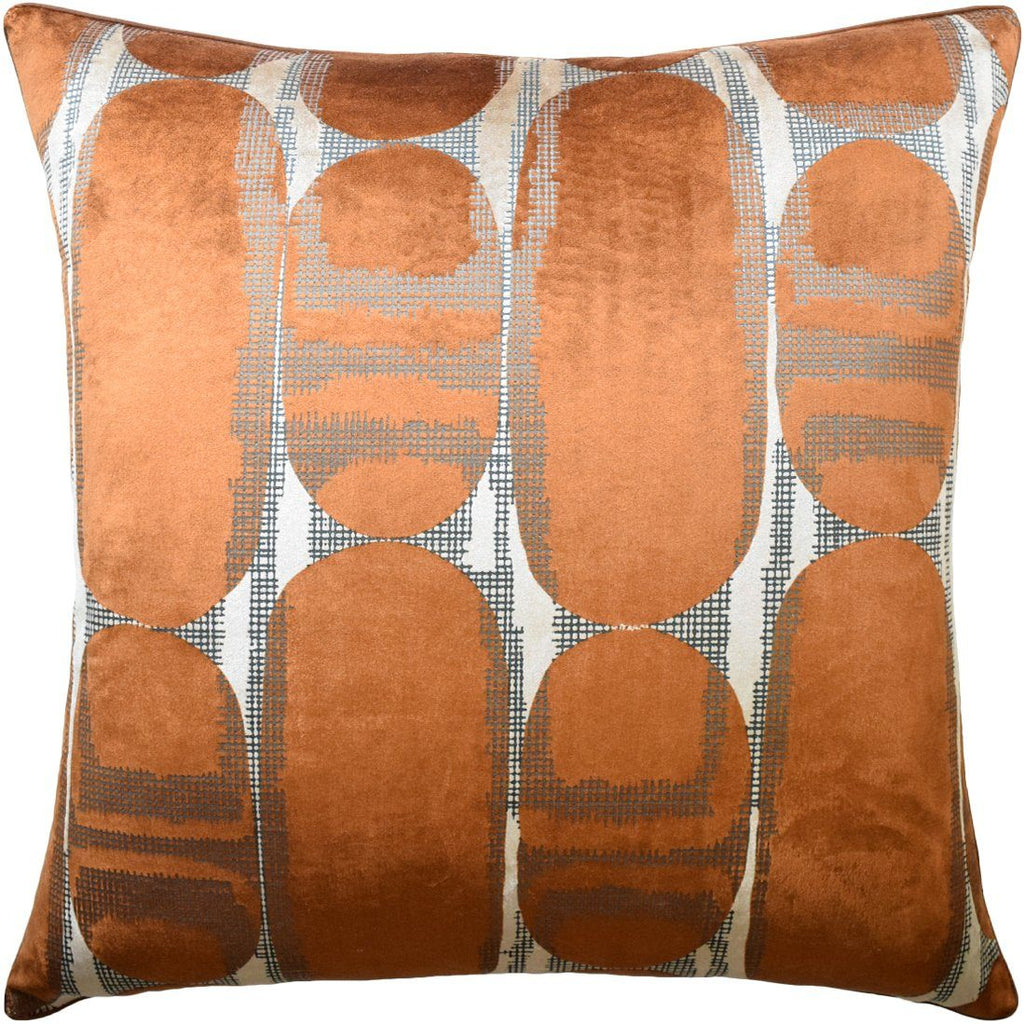 Scarab Rust Decorative Pillow - Ryan Studio
