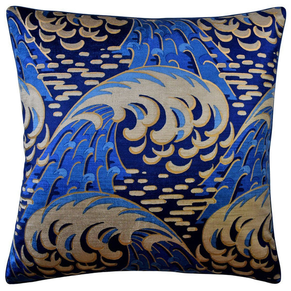 Kaiyou Indigo Decorative Pillow | Ryan Studio at Fig Linens