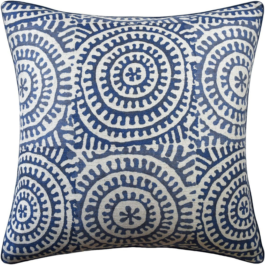 Kasai Navy Pillow by Ryan Studio