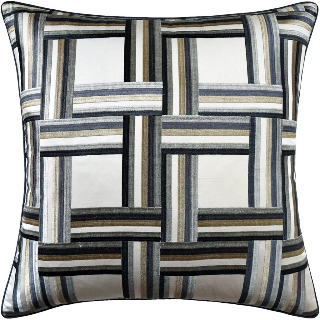 Front Row Steel and Blue Pillow by Ryan Studio