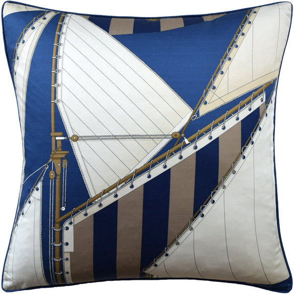 St. Tropez Navy & Marine Pillow by Ryan Studio | Lee Jofa at Fig Linens