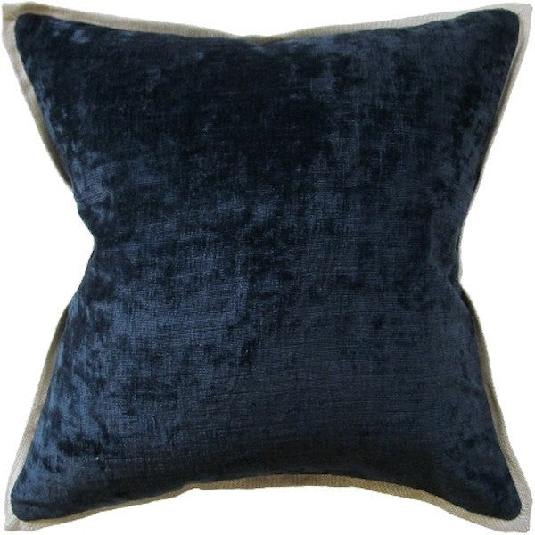 ryan studio umbria dark indigo pillow