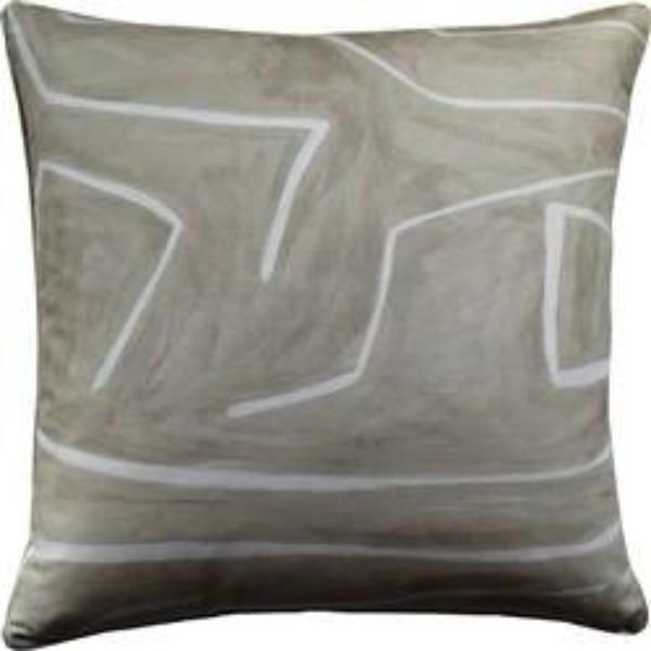 Grafitto Beige/Ivory Pillow by Ryan Studio