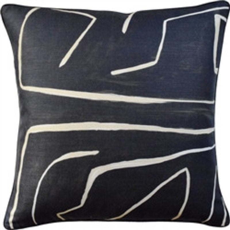 Grafitto Onyx/Beige Pillow by Ryan Studio