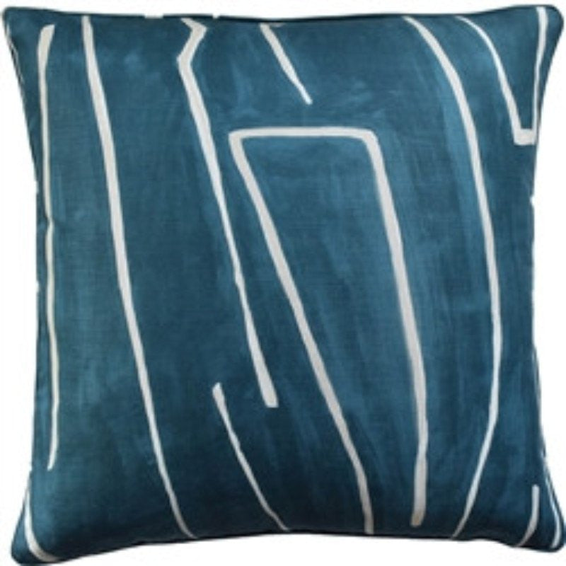 Grafitto Teal/Pearl Pillow by Ryan Studio