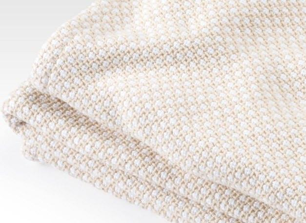 Fig Linens - Brahms Mount - Edgecomb Cotton Blanket in Natural