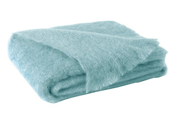 Brushed Mohair Throw Sea Spray by Lands Downunder