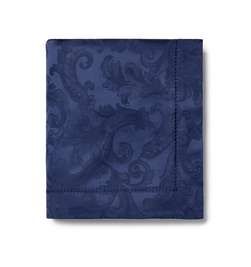 Acanthus Table Linen by Sferra elegant tablecloths, placemats and napkins fig linens sapphire navy