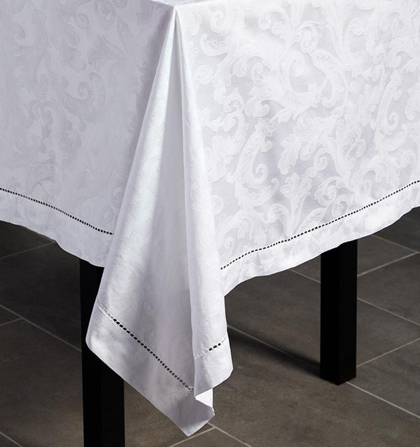 Acanthus Table Linen by Sferra elegant tablecloths, placemats and napkins fig linens -