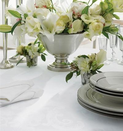 Acanthus Table Linen by Sferra elegant tablecloths, placemats and napkins fig linens