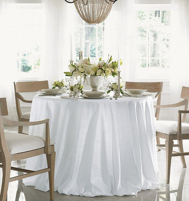 Acanthus White table linen by sferra - Fig Linens - Easter tablecloth