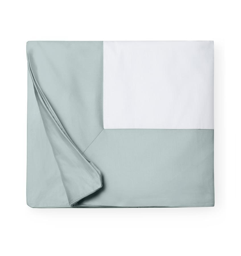 Casida Bedding by Sferra - Fig Linens, sea green duvet cover