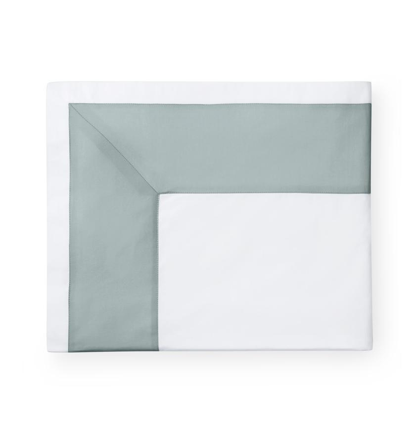 Casida Bedding by Sferra - Fig Linens -  sea green flat sheet