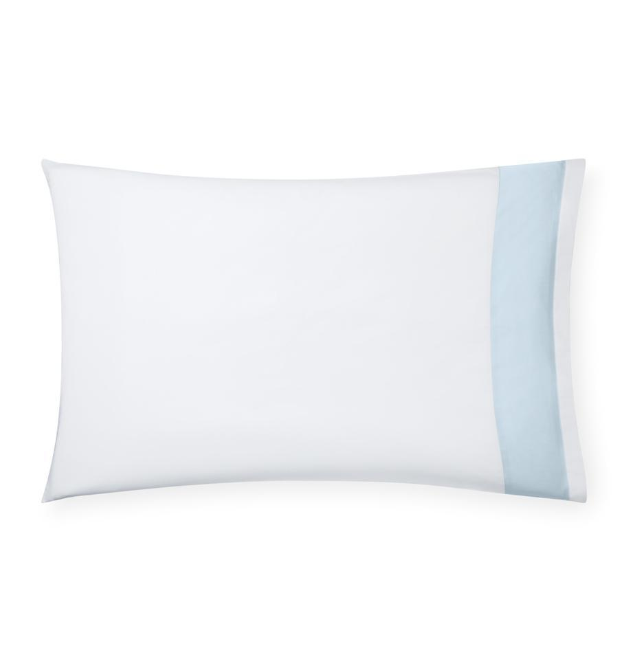 Casida Bedding by Sferra - Fig Linens, powder blue pillowcase