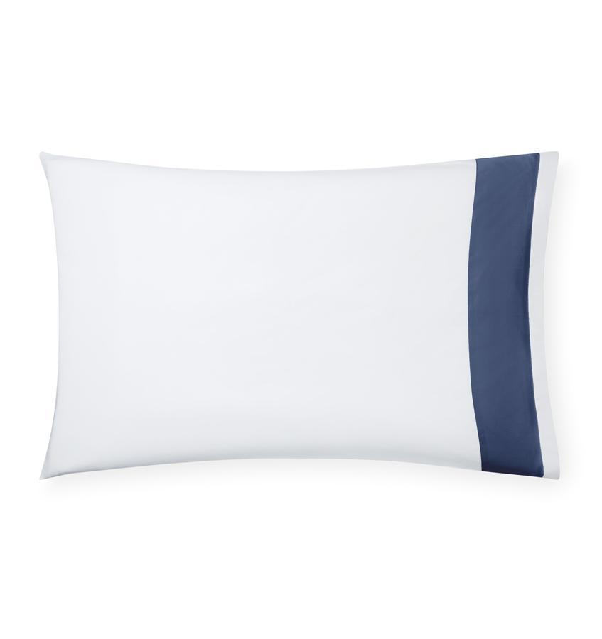 Casida Bedding by Sferra - Fig Linens, delft blue pillowcase