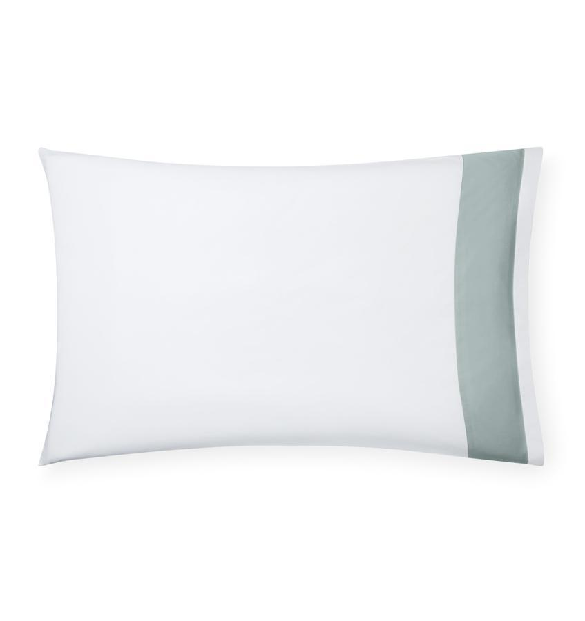 Casida Bedding by Sferra - Fig Linens, sea green pillowcase