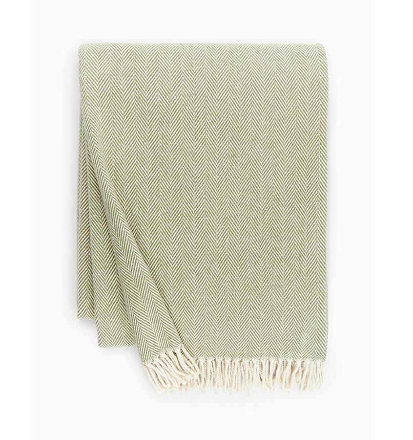 Celine Moss  Green Throw by Sferra - Shop Cotton Throws at Fig Linens