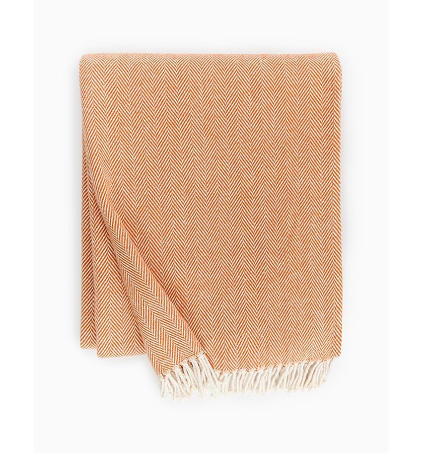 Celine Paprika Throw by Sferra - Shop Cotton Throws at Fig Linens