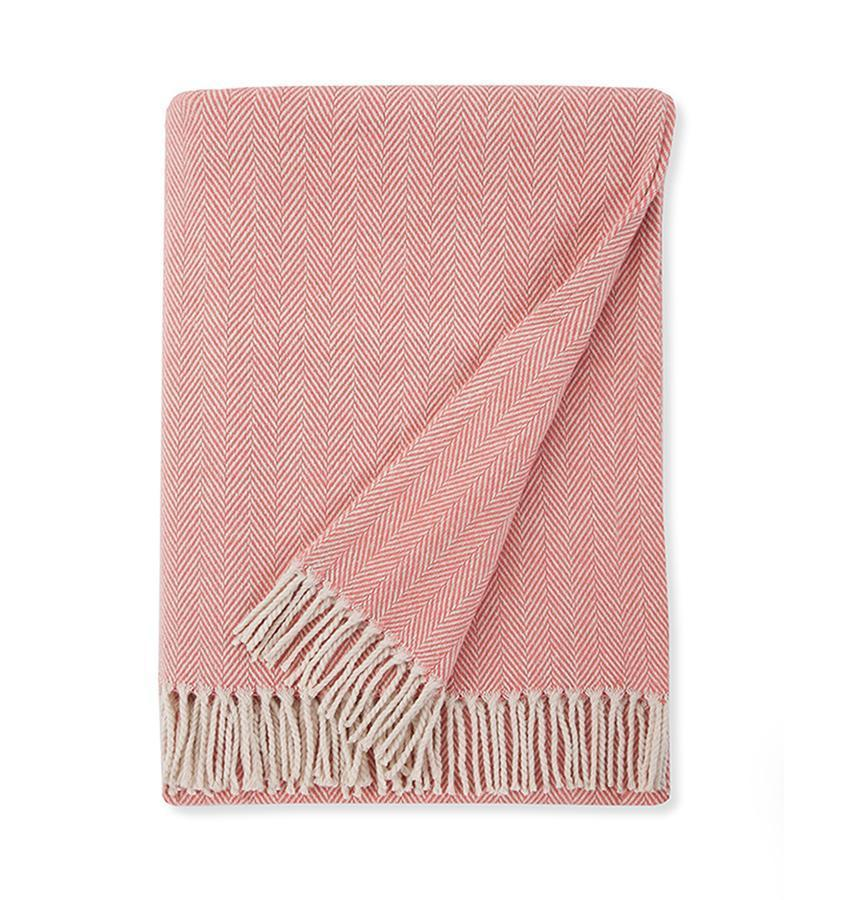 Celine Salmon Throw by Sferra - Shop Cotton Throws at Fig Linens
