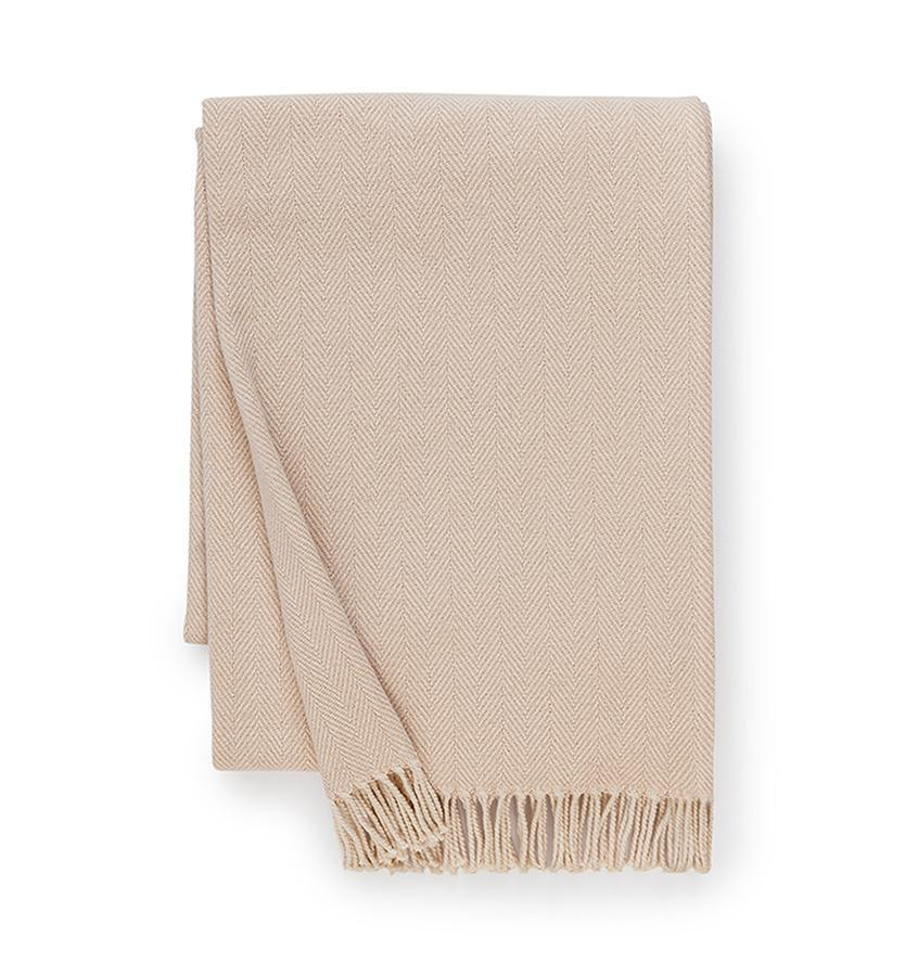 Celine Taupe Throw by Sferra - Shop Cotton Throws at Fig Linens