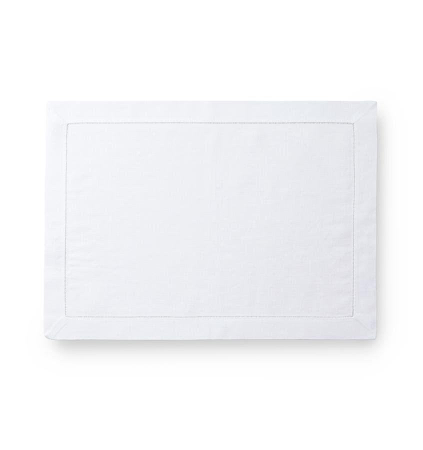 Sferra Fine Table Linen Classico Napkin & Placemat Fig Linens White