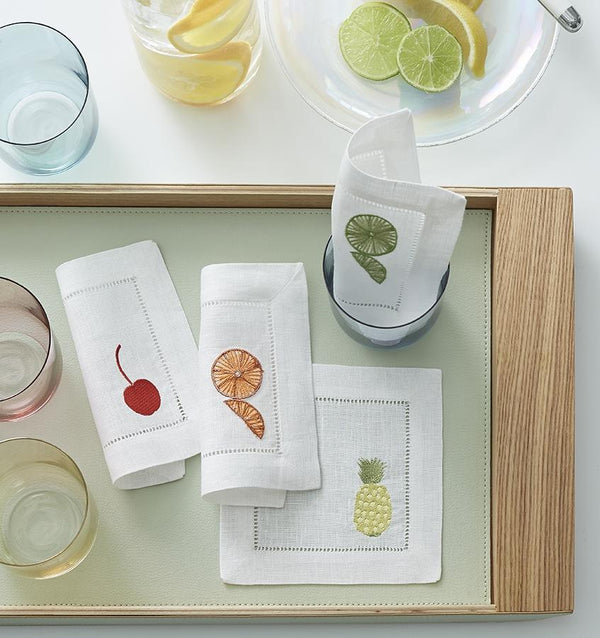 Frutta Cocktail Napkin by Sferra Fig Linens