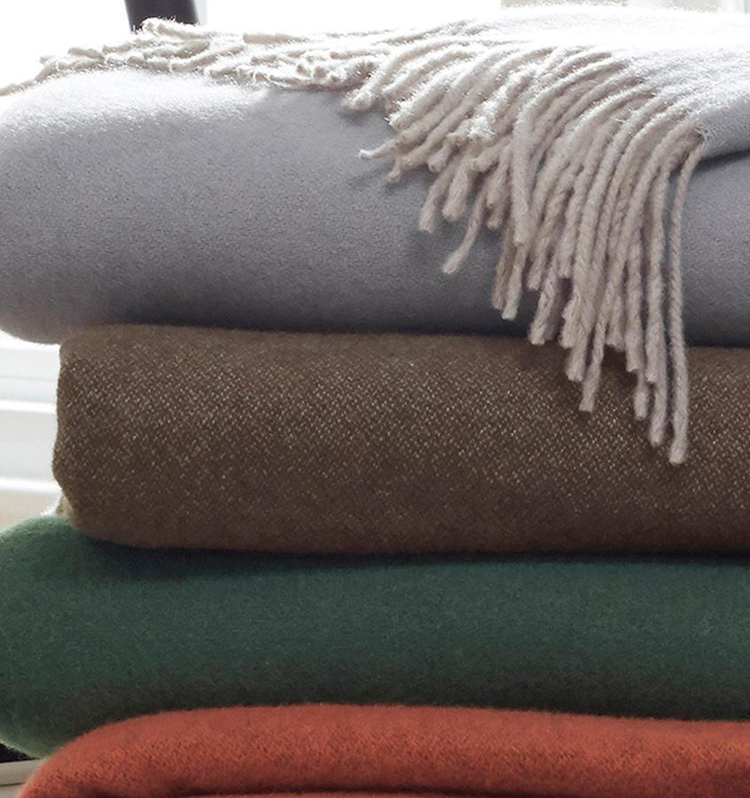 Renna Bluefin Throw by Sferra - Cashmere Throw Blankets at Fig Linens
