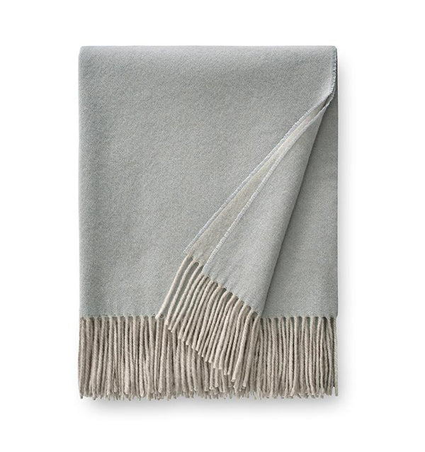Renna Bluefin Throw by Sferra - Fig Linens - Cashmere throw blanket