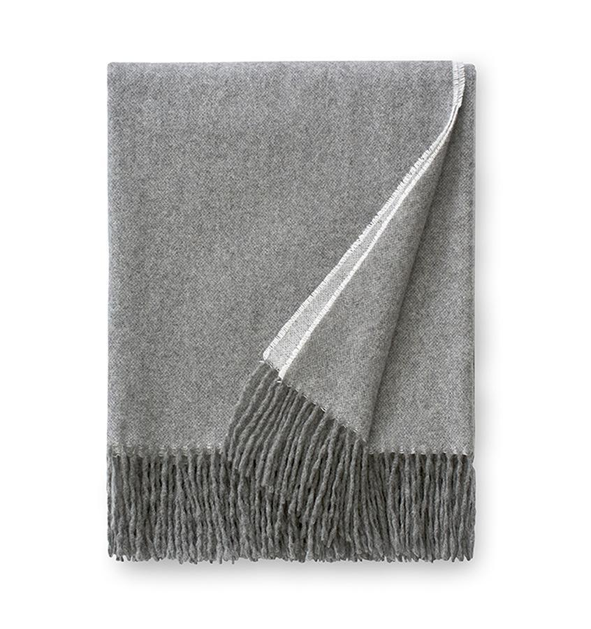 Sferra Renna Gray Throw - Fig Linens