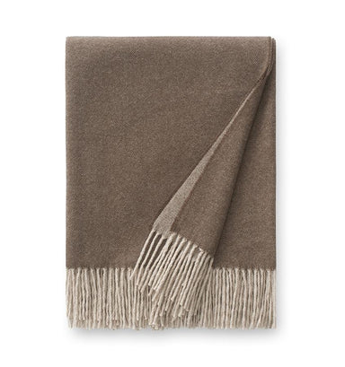 Renna Walnut Throw by Sferra - Cashmere Throw Blankets at Fig Linens