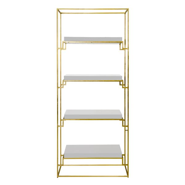 Shadow Etagere in White - Worlds Away - Fig Linens and Home