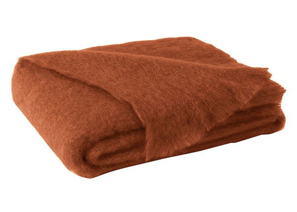 Brushed Mohair Throw Sienna by Lands Downunder