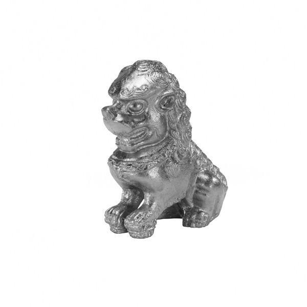 Foo Dog Silver Bookends