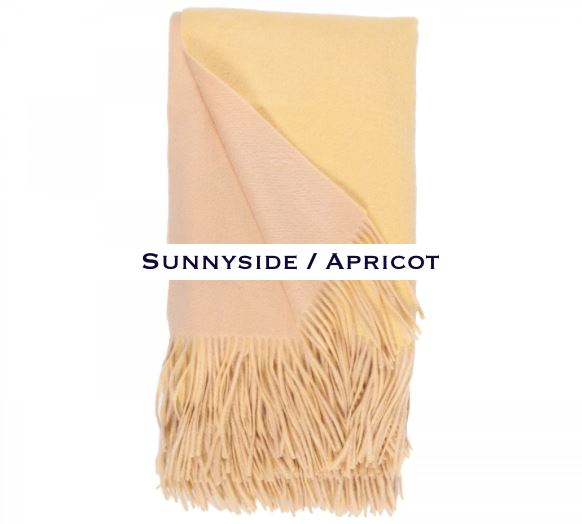 100% Cashmere Double Faced Throw by Alashan sunny side / apricot