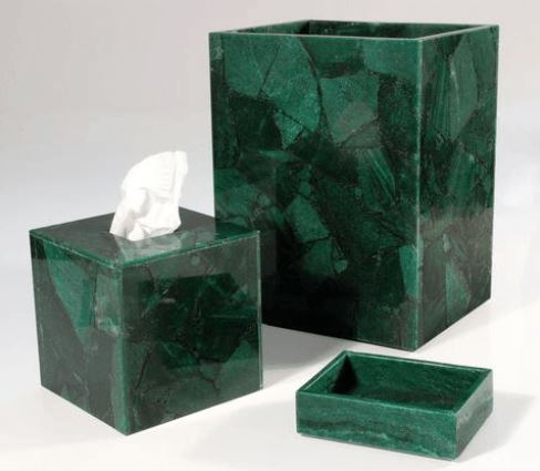 Taj Green Aventurine Bath Accessories by Mike + Ally | Fig Linens